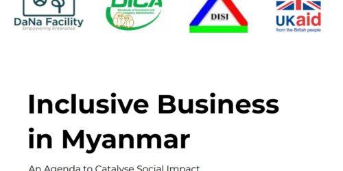 INCLUSIVE BUSINESS IN MYANMAR